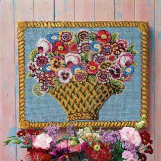 Ehrman-Needlepoint-Basket-of-Flowers-1