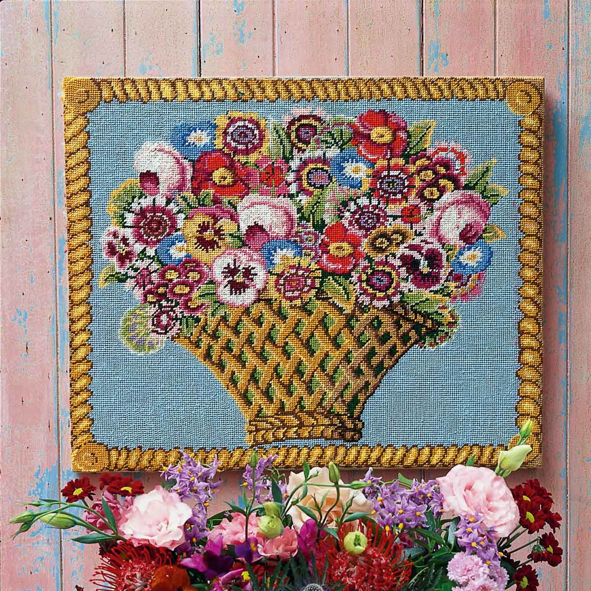 Basket of Flowers - Ehrman Tapestry