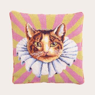 Ehrman-Needlepoint-Carnation-Cat-in-a-Ruff-1