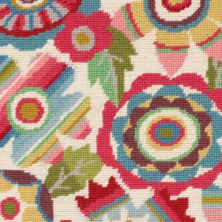 Ehrman-Needlepoint-Mexican-Flowers-Pink-1-2