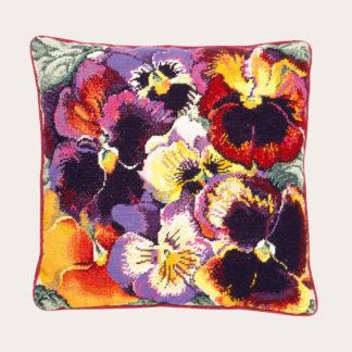 Ehrman-Needlepoint-Pansies-Cushion-1