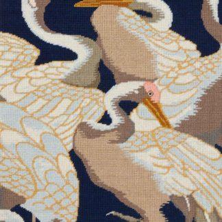 Ehrman-Needlepoint-White-Cranes-Panel-2