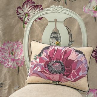 Flower motif needlepoint
